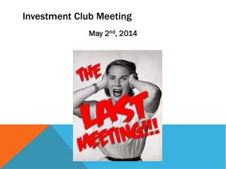 Investment Club Meeting