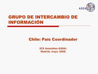 GRUPO DE INTERCAMBIO DE INFORMACI�N