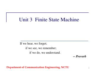 Unit 3  Finite State Machine