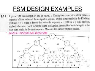 FSM DESIGN EXAMPLES