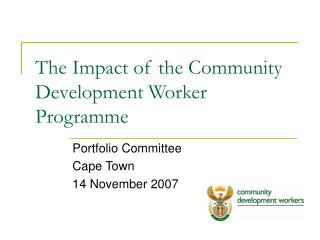 The Impact of the Community Development Worker Programme