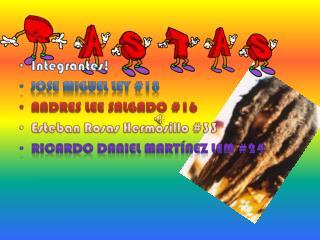 Integrantes! Jose  Miguel Ley #18 Andres  lee salgado #16 Esteban Rosas  Hermosillo  #33