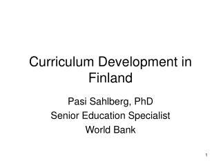 Curriculum Development in Finland