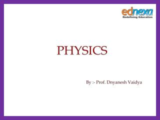 Physics Preparation for JEE Main 2015