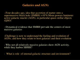 Galaxies and AGNs