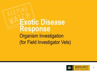 Organism Investigation (for Field Investigator Vets)
