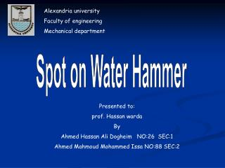 Spot on Water Hammer