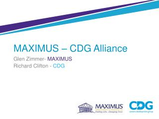 MAXIMUS – CDG Alliance