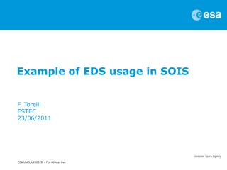 Example of EDS usage in SOIS
