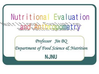Professor   Jin BQ Department of Food Science & Nutrition NJNU