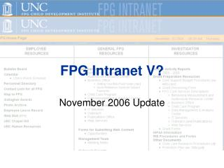 FPG Intranet V?