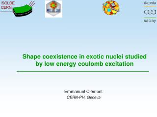 Shape coexistence in exotic nuclei studied by low energy coulomb excitation