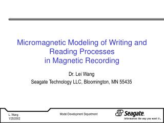 Micromagnetic Modeling of Writing and Reading Processes in Magnetic Recording