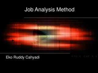 Job Analysis Method