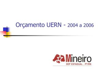 Or�amento UERN -  2004 a 2006