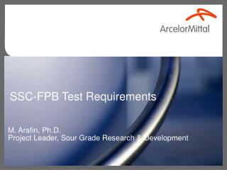 SSC-FPB Test Requirements