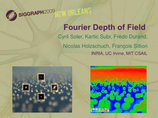 Fourier Depth of Field