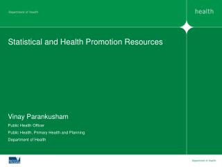 Statistical and Health Promotion Resources