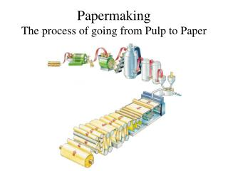 Papermaking The process of going from Pulp to Paper