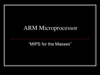 ARM Microprocessor