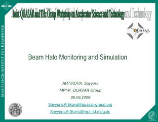 Joint QUASAR and THz Group Workshop on Accelerator Science and Technology