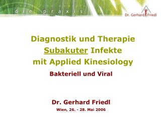 Diagnostik und Therapie  Subakuter  Infekte  mit Applied Kinesiology