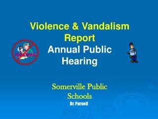Violence & Vandalism Report Annual Public Hearing