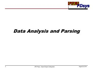 Data Analysis and Parsing
