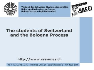 The students of Switzerland and the Bologna Process