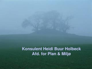 Konsulent Heidi Buur Holbeck Afd. for Plan & Miljø