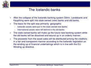 The Icelandic banks