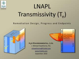 LNAPL Transmissivity Tn    Remediation Design, Progress and Endpoints