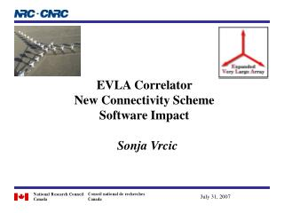 EVLA Correlator  New Connectivity Scheme Software Impact   Sonja Vrcic