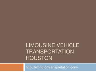 Limousine Vehicle Transportation Houston