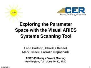 Exploring the Parameter Space with the  Visual ARIES Systems Scanning Tool