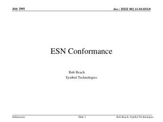 ESN Conformance