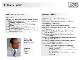 Dr. Klaus Enßlin