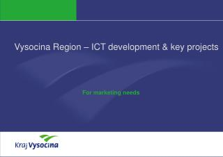 Vysocina Region – ICT development & key projects