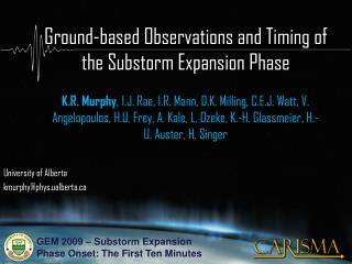 Ground-based Observations and Timing of the Substorm Expansion Phase