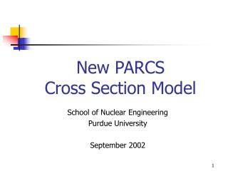 New PARCS Cross Section Model