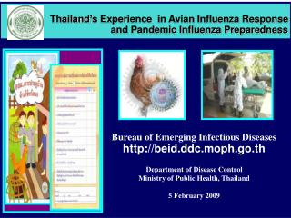 Thailand's Experience  in Avian Influenza Response  and Pandemic Influenza Preparedness