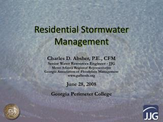 Residential Stormwater Management