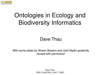 Ontologies in Ecology and Biodiversity Informatics