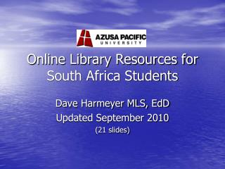 Online Library Resources for South Africa Students
