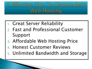 Best Web Hosting Guide - Choose the Top Hosting For Your Web