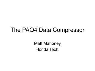 The PAQ4 Data Compressor