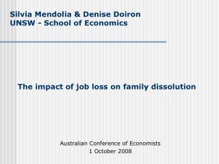 The impact of job loss on family dissolution