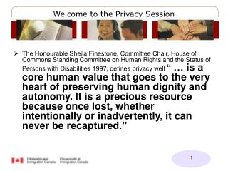 Welcome to the Privacy Session
