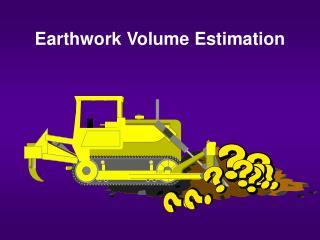 Earthwork Volume Estimation