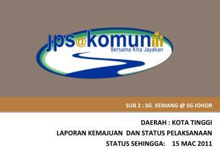 SUB 2 : SG. KEMANG @ SG JOHOR